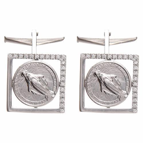 Cufflinks Silver 800, Miraculous Madonna 1,7x1,7cm s3