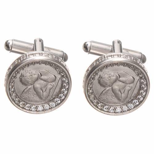 Cufflinks with Raffaello' angel in silver 800, 1,7cm s1