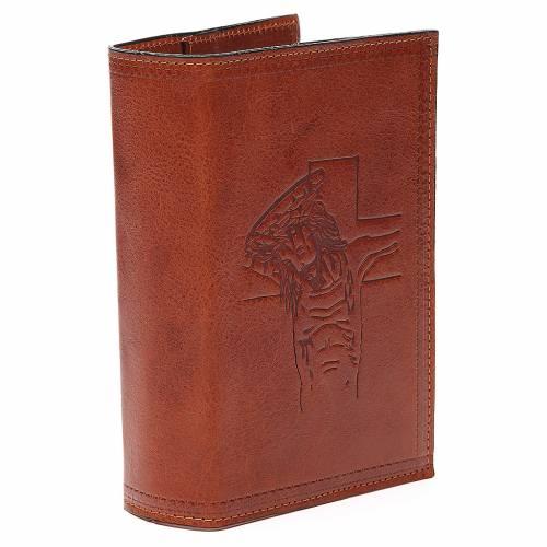 Custodia 4 Vol. marrone pelle Cristo impresso s3