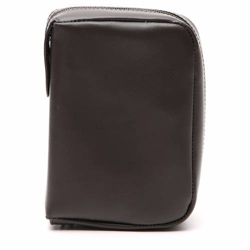 Custodia Bibbia Gerusalemme tascabile nera pelle zip s1