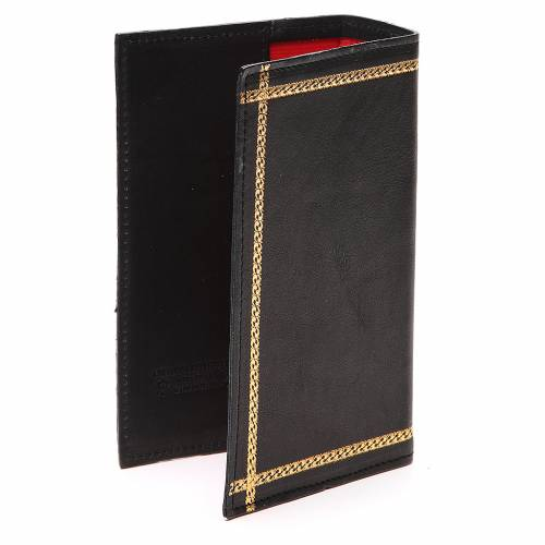 Custodia Lit. Ore vol. unico scritta oro pelle nera s3