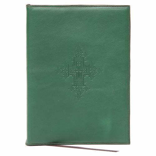 Custodia portariti A5 croce impressa verde Bethléem s1