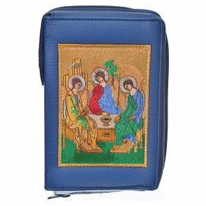Daily Prayer covers: Daily prayer cover blue bonded leather with Holy Trinity