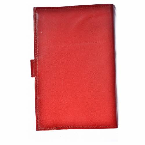 Daily prayer cover red genuine leather Christ Pantocrator s2