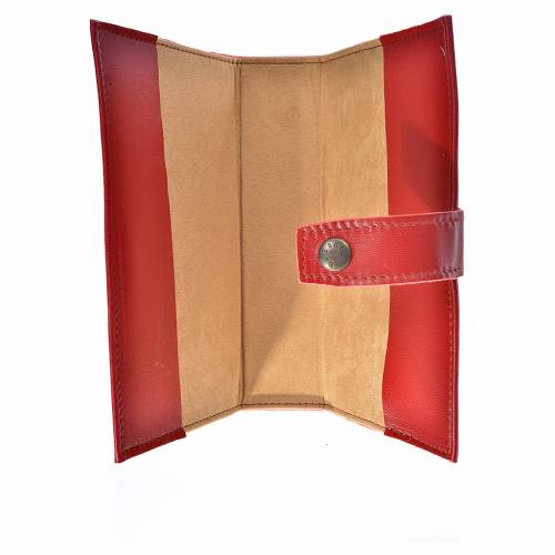 Daily prayer cover red leather Our Lady of Tenderness s3