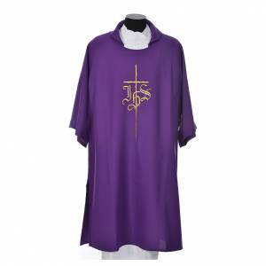 Dalmatic 100% polyester with cross and IHS symbol s3