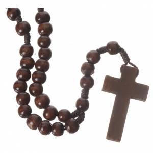 Wood rosaries: Dark wood rosary beads