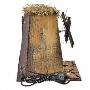 Décor crèche napolitaine moulin à vent 23x17x11cm s4