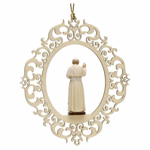 Decoraciones de Navidad, Papa Juan Pablo II de madera s2