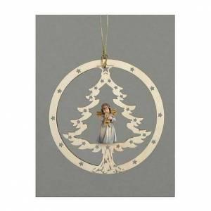 Décoration sapin Noël ange avec trompette s1