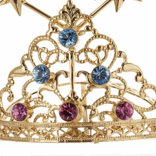 Diadema in ottone filigrana dorata s8