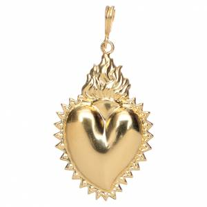 Colgantes, cruces y broches: Dije de corazón ex voto en plata 800