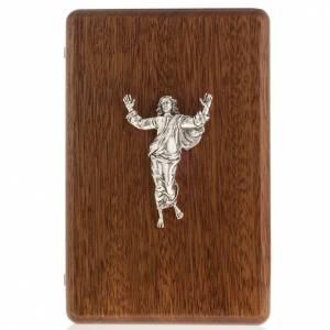 Crucifijos de mesa: Díptico plata Cristo Resucitado y cruz Vía Crucis 14 estaciones