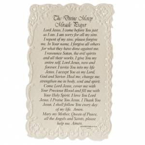 Divine Mercy holy card with prayer in ENGLISH s2
