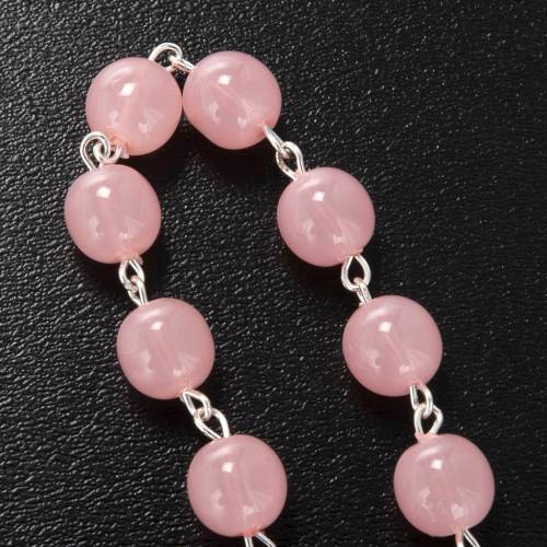 Dizainier Ghirelli Vierge à l'enfant verre rose 8mm s3