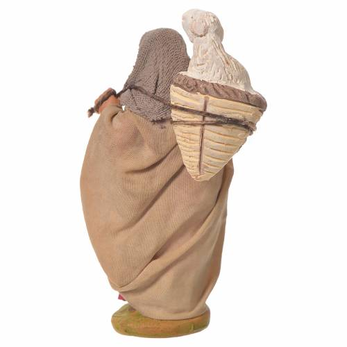 Donna cesto pecora 10 cm presepe napoletano s2