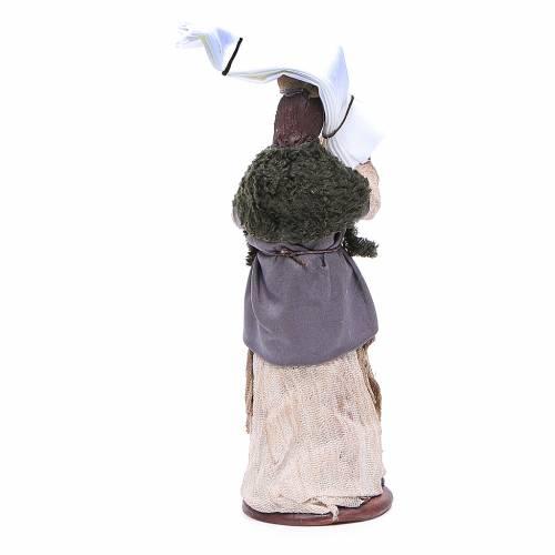 Donna fazzoletti testa e mano 14 cm presepe napoletano s4