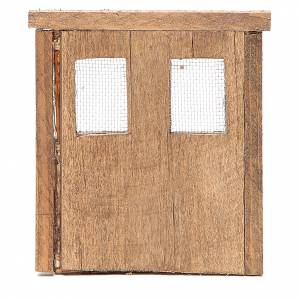 Door for nativity in wood 13x11cm s3