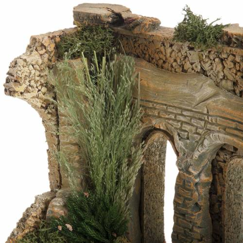 Double archway with bricks for nativity scene s4