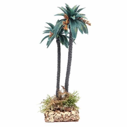 Double palm with flowers for nativity scene in PVC, 21cm s2