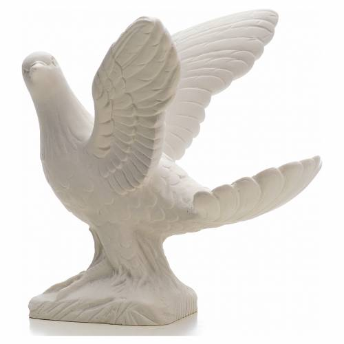 Dove with open wings statue in reconstituted marble, 25 cm s2
