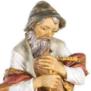 Krippenfiguren: Dudelsackpfeifer Harz Fontanini Krippe 85 cm