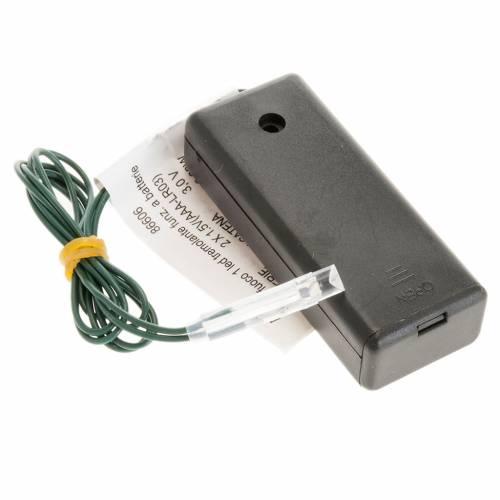 Efecto fuego a batería, 1 LED para el pesebre s1
