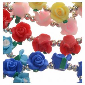 Elastic bracelet with roses s7