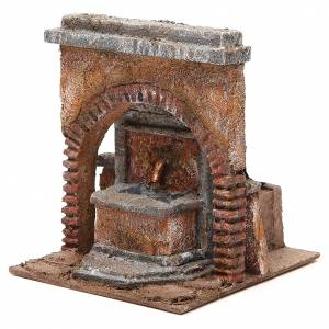 Electric Fountain nativity with arch 18x16x16cm s2