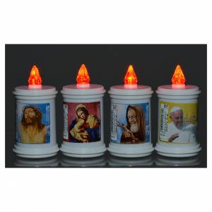 Votive candles: Electric votive candle in plastic, lasting 40 days
