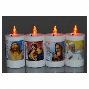 Votive candles: Electric votive candle in white plastic, lasting 40 days