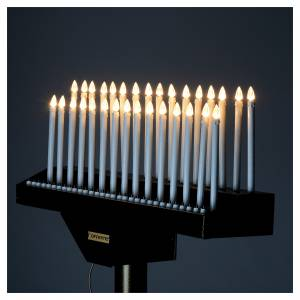 Electric votive offering 31 candles, 12V lights and buttons s9