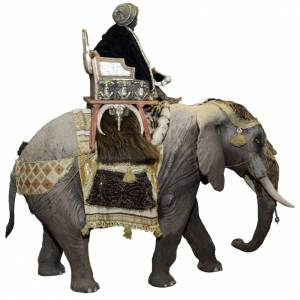 Elefante con Rey Mago del belén Angela Tripi 30 cm s4