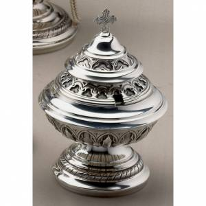 Encensoirs et navettes: Encensoir et navette Molina style gotique filigrane perforée