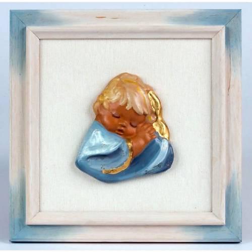 Enfant en terre cuite,bleu s1