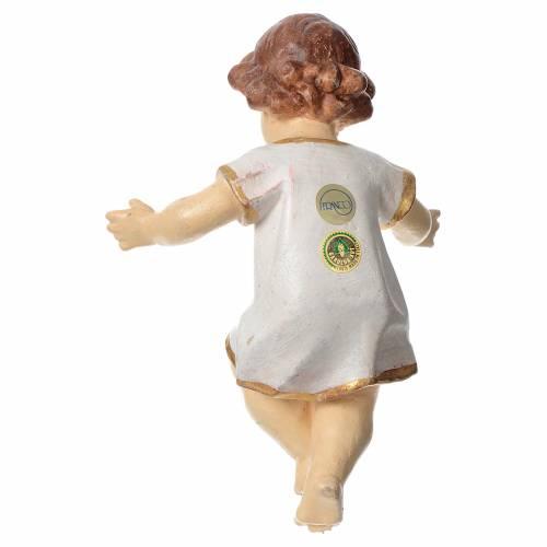 Enfant Jésus habillé bois Ancien Valgardena s2