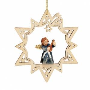 Christbaumschmuck aus Holz und PVC: Engel auf Sterne