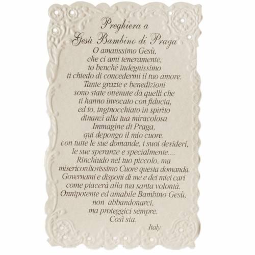Estampa Bambino di Praga con oración (italiano) s2