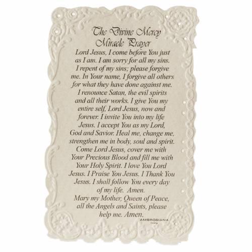 Estampa Divine Mercy con oración (inglés) s2