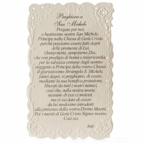Estampa San Michele Arcangelo con oración (italiano) s2