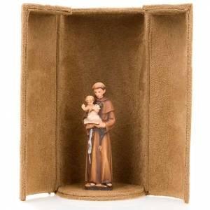 Imágenes de Madera Pintada: Estatua bijoux Jesús y Santos con caja