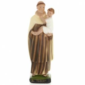 Estatua San Alberto de Mesina 30 cm. yeso s1