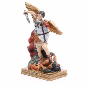 Estatua San Miguel 22 cm resina colorada s2