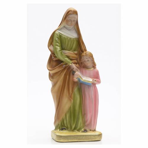 Estatua yeso Santa Ana con niña 30cm s1