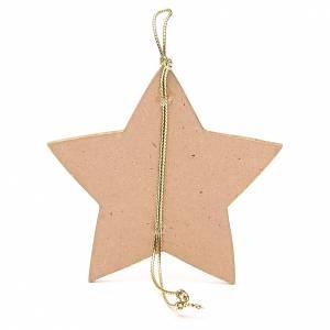 Estrella dorada con cuerda 9,5 x 9,5 cm s2