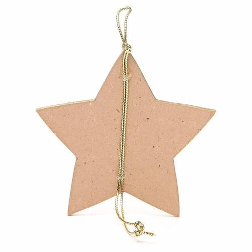 Estrella dorada con cuerda 9,5 x 9,5 cm 2