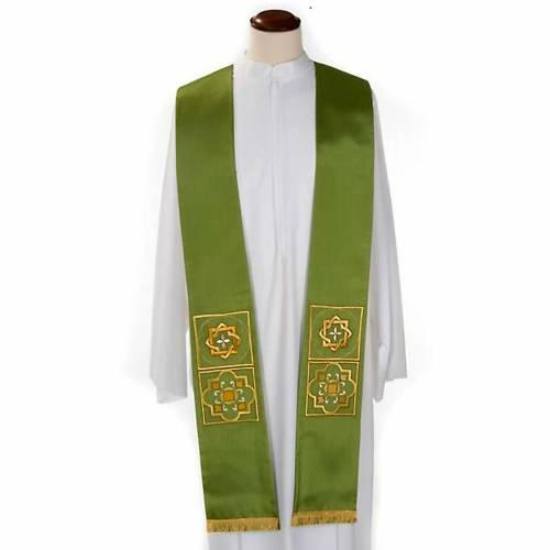 Etole liturgie shantung avec décor doré carr&eacut s1