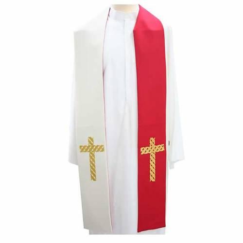 Etole liturgique avec croix dorées s1