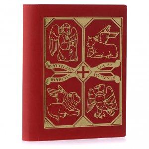 Etui lectionnaire, cuir, évangiles, rouge s2