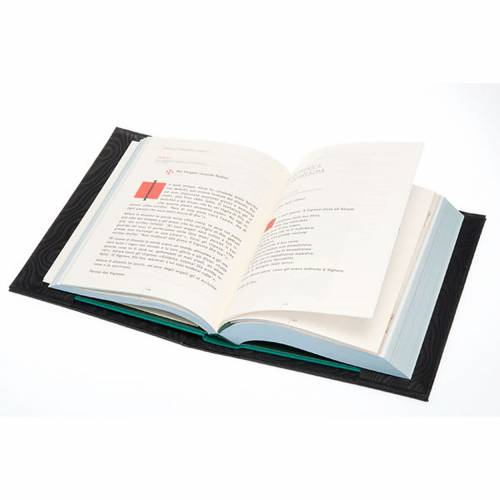 Etui lectionnaire , noir, cuir, image du Christ Pantocrator s4